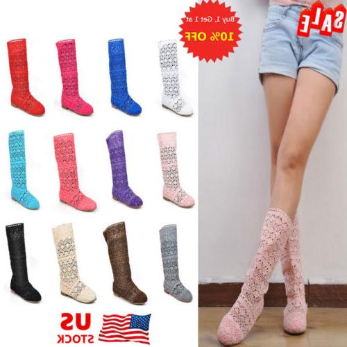 us stock women hollow out boots shoes