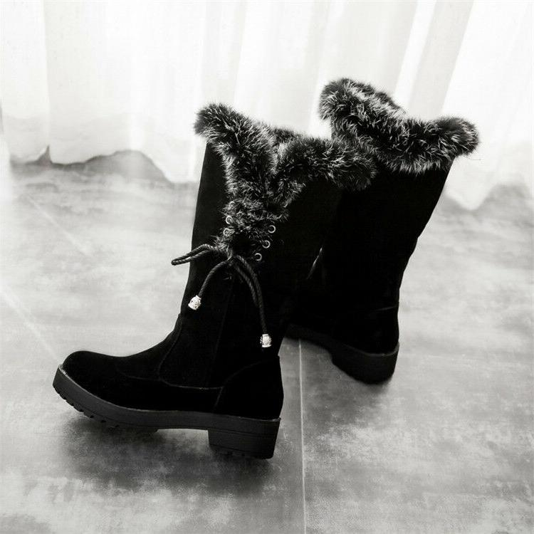 Winter Women Lined Boots Platform Warm Shoes Boot