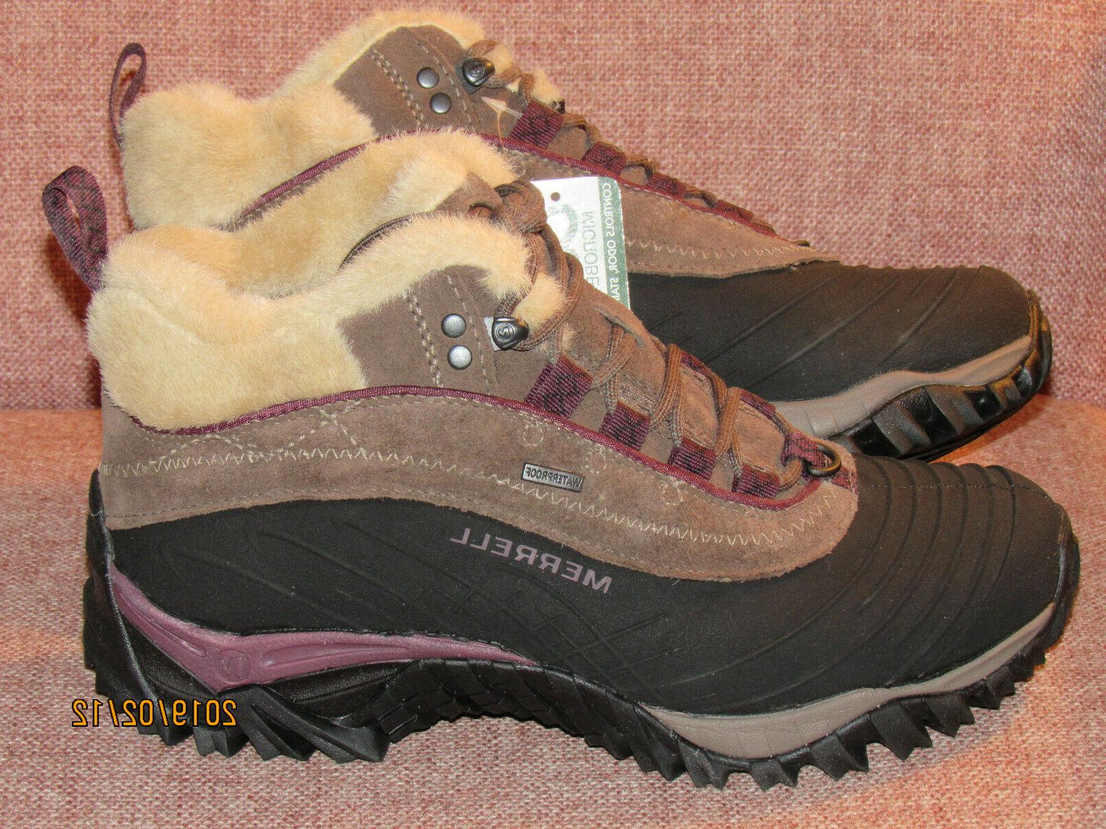 Merrell Waterproof Winter Boots  - Brown/Purple - Brand New