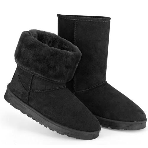 Snow Boots Fur Suede Calf Fashion 5-10 Size