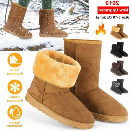 winter boots women s faux fur suede