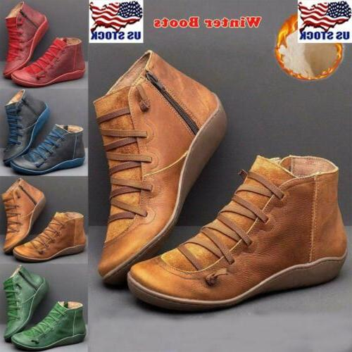 women arch support boots zipper ankle boots
