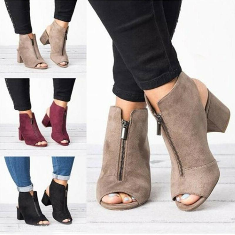 Women Block Heels Toe Strap