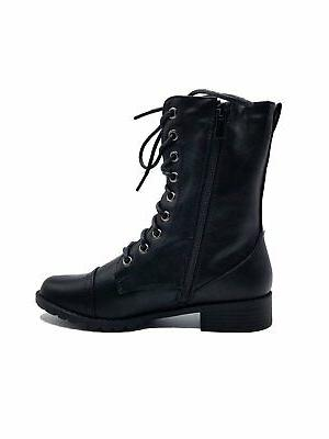 Women Combat Up Mid Calf Boots