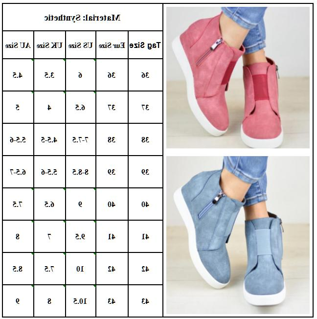 Heel Ankle Sneakers Trainers High Shoes Size 6-10.5