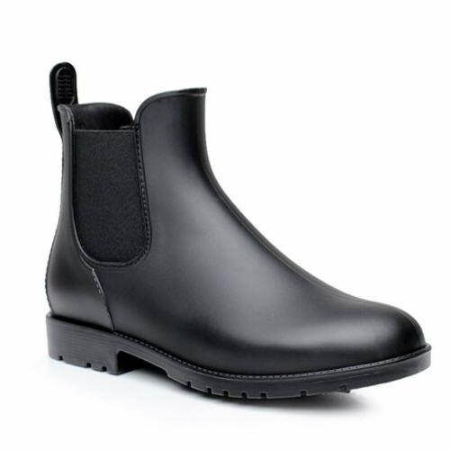 Women Neutral Rain Boots Slip On GEN