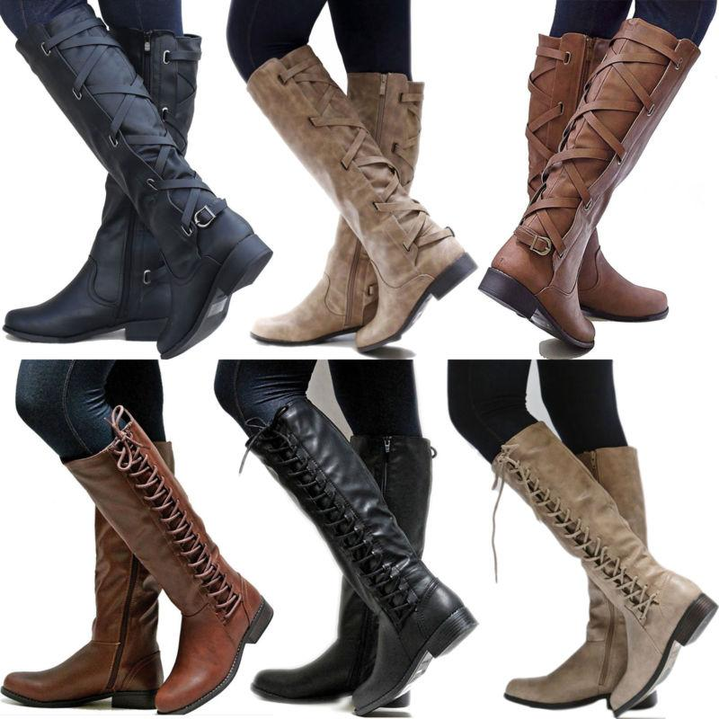 women pu leather mid calf boots ladies