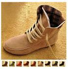 Women's Ankle Boots Nubuck Moccasins Lace-Up High top Shoes
