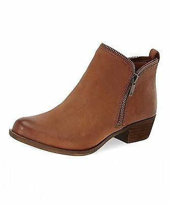Lucky Brand Women's Bartalino Dual Side Zip Leather Ankle Bo