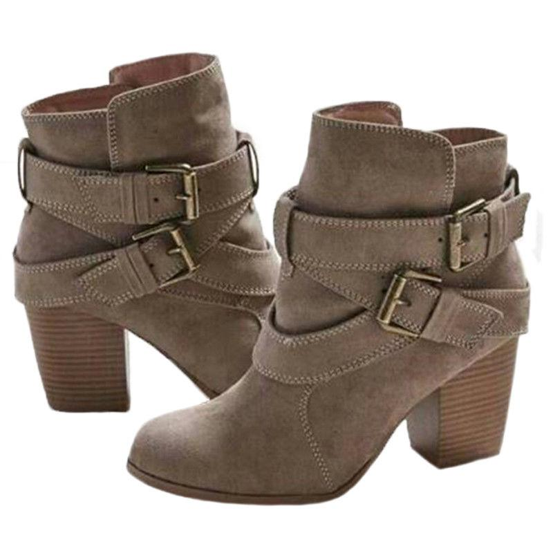 USA Block Heel Boots Casual Shoes