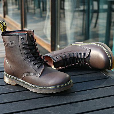 Women's Casual Motor Retro Boots Leather Martens