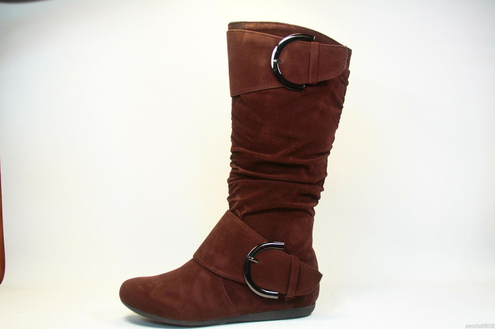 Women's Casual Heel Calf Round Boot shoes New