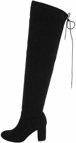 Women's The Boots Stretchy Thigh High Heel Boots