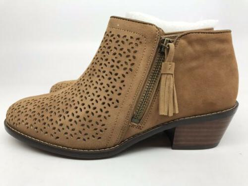 Vionic Ankle Bootie Support Caramel