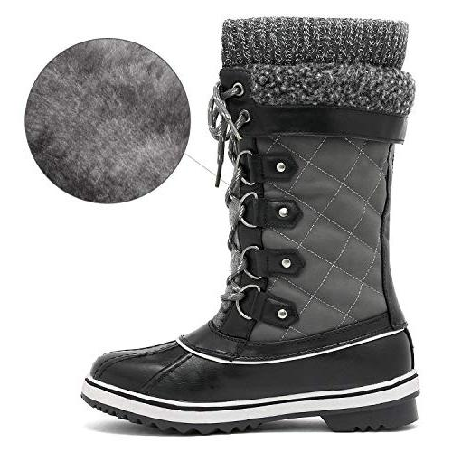 DREAM PAIRS Grey Mid Snow Boots 9 M US