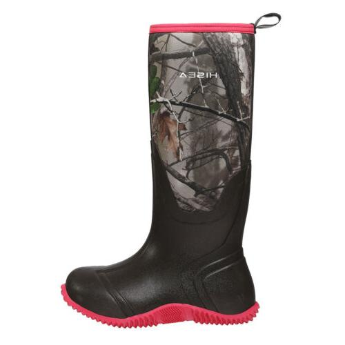 HISEA Women's Snow Insulated Rubber Mud Hunting Boots