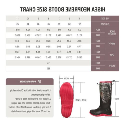 HISEA Women's Rubber Boots Insulated Hunting