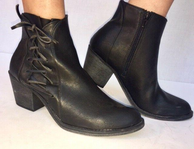 Women's Sexy Side Lace up Ankle Boots, High Heel Booties Sho