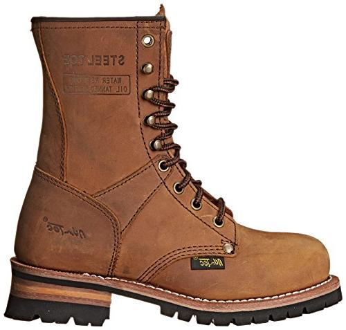 "Adtec Women's Work Boots 9"" Steel Brown, 8 M"