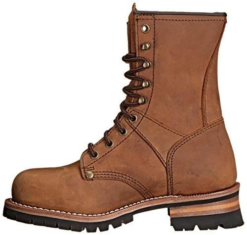 "Adtec Women's Work 9"" Brown, 8"