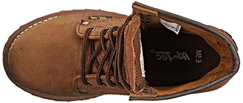 "Adtec Work 9"" Steel Toe Logger, Brown, 8"