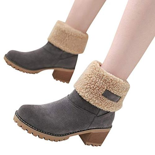 Londony♥‿♥ Clearance Sales,Women's Boots Fold Down Trim Style 815