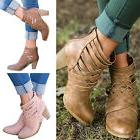 Womens Ankle Boots Chunky Mid Heel Summer Booties Zip Sandal