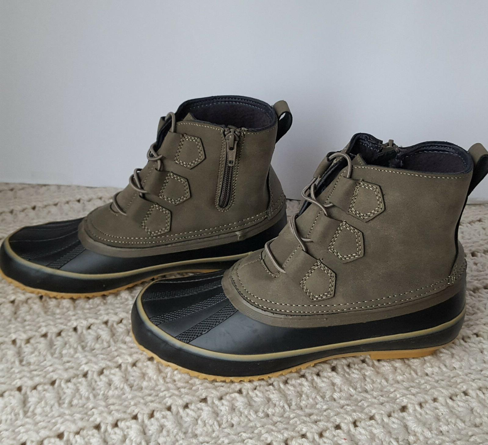 Womens Ethan Shootie Ankle Boots Duck Faux Leather Grey Memo