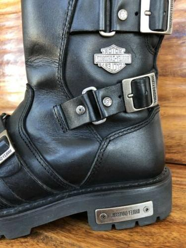 Womens Harley Biker Boots Motorcycle Size 9