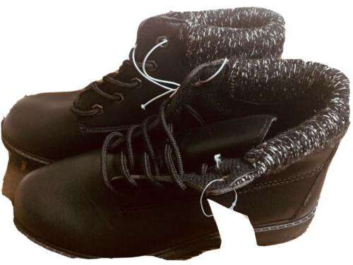 womens lace up black ankle boots size