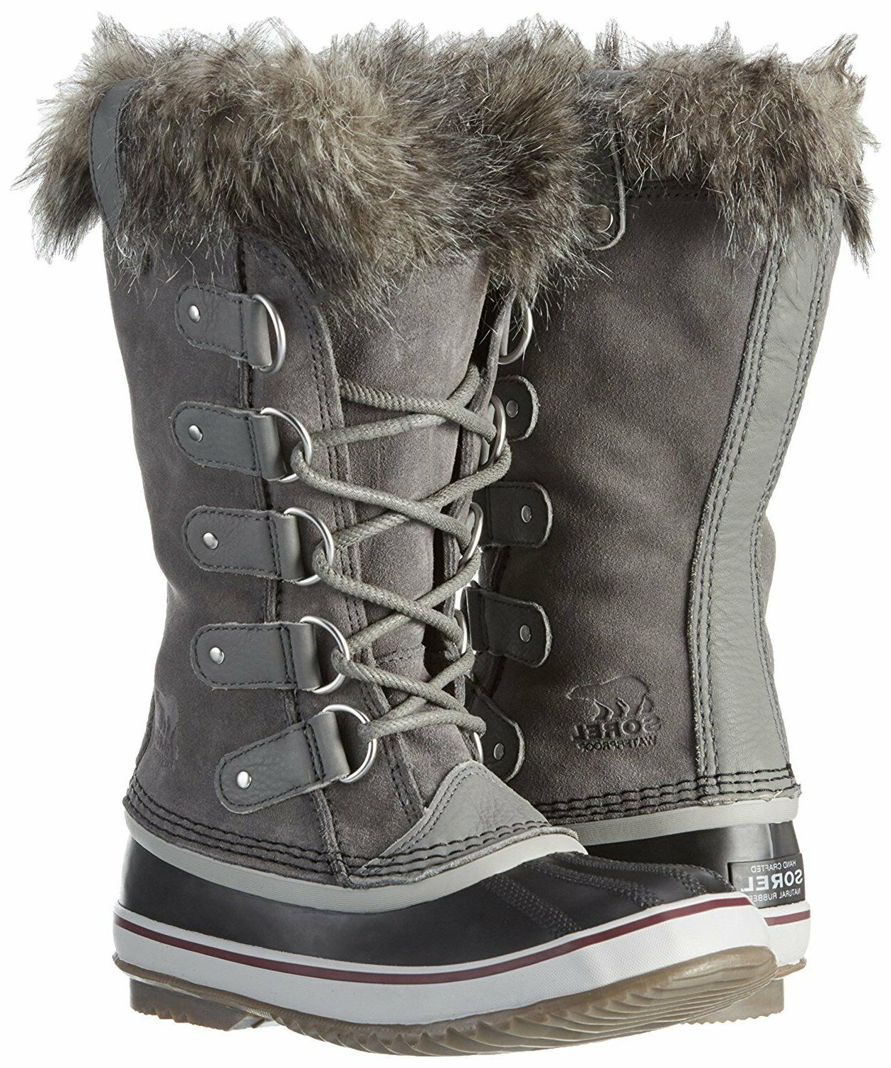 SOREL Womens Quarry/Black Insulated Leather Joan Of Arctic W