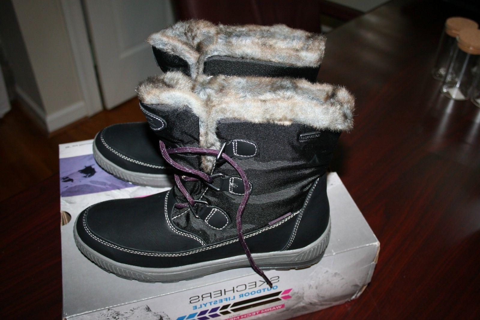 Skechers Woodland Dry Quest Women's Winter Boots Black Size