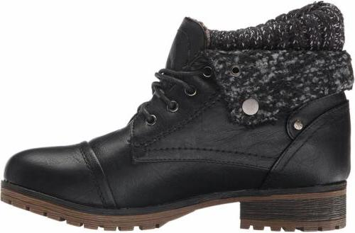 Refresh Wynne Combat Up Ankle Booties Leatherette