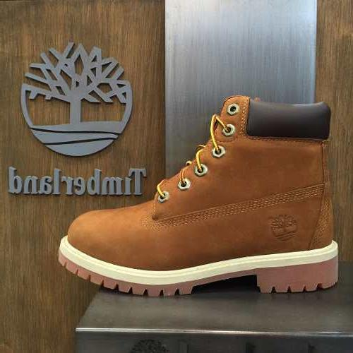 "Youth / Womens Timberland 6"" 6 Inch Premium Boots New, Rust"