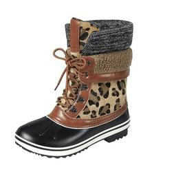 Leopard Animal Print Sherpa Winter Duck Snow Cold Weather An