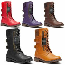 military lace up combat boots mid calf