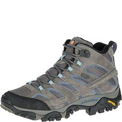 Merrell Women's Moab 2 Mid Waterproof Hiking Boot, Granite,