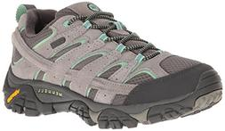 Merrell Women's Moab 2 Waterproof Hiking Shoe, Drizzle/Mint,