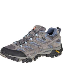 Merrell Women's Moab 2 Waterproof Hiking Shoe, Granite, 8 M