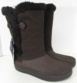 Crocs Womens Modessa Synthetic Suede Button Boot Shoes, Espr