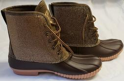 monogrammed lac duck boots womens size 8