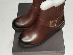 mystic mara chocolate brown leather ankle boots