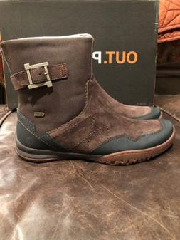 NEW MERRELL ALBANY SKY WATERPROOF LEATHER BOOTS WOMENS 8 ESP