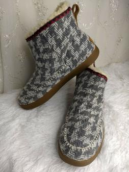 NEW! Sanuk Casual Boots Womens 10 Nice Bootah Ankle Gray Pat