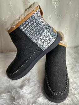 NEW! Sanuk Casual Boots Womens 8 Nice Bootah Ojai Ankle Gray