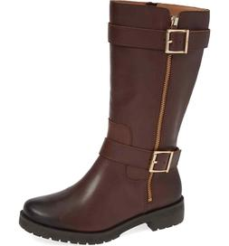 NEW NIB Women's VIONIC Marlow Chocolate Brown Leather Boots