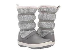 NEW Crocs Women's Crocband Winter Puff Boot -  size 8 - Gray