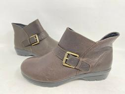 NEW! Skechers Women's METRONOME Zip Up Ankle Boots Brown #49
