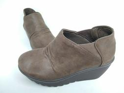 NEW! Skechers Women's Parallel Wedge Ankle Boots Chocolate #