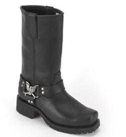 New Womens B.E. Leather Motorcycle Biker Boots Eagle At Ankl